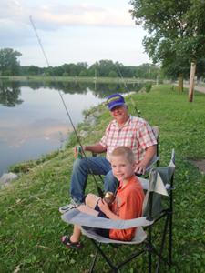 Fishing at Crystal Springs Park