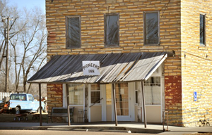 Stone building in downtown Gilead