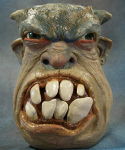 Ugly mug made by potter Lucky Stradley of Hubbell