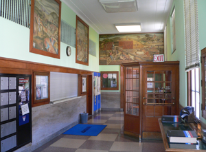 WPA Murals in the Red Cloud Post Office, 310 N. Webster