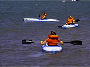 Kayaking is an increasingly popular activity in Harlan County